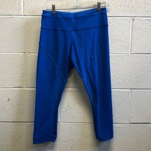 Lululemon blue crop leggings sz 8 62747
